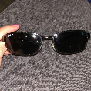 RayBan RB3364 gunmetal polarized unisex sunglasses